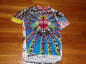 CASTELLI LITITZ BACKSTAGE TO THE WORLD FULL ZIP CYCLING JERSEY BOYS XL EXCELLENT