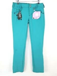 Volcom Battle Stretch Womens Size S Snowboard Pants Teal