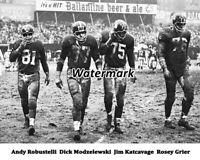 NFL 1962 New York Giants D Line Yankee Stadium Black & White 8 X 10  Photo Pic