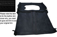 BLACK `STITCH ROOF HEADLINING PU SUEDE COVER FITS LAND ROVER DEFENDER 90 3DR