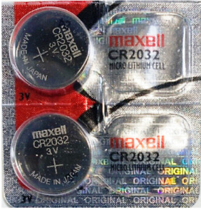 CR2032 Battery Lithium 3V Button Coin Cell Batteries DL2032 Maxell 2x
