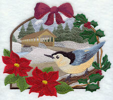 Embroidered Ladies Fleece Jacket - Nuthatch and Covered Bridge F6249