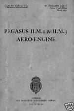 Bristol Pegasus II Radial Engine Maintenance Manual 1930's rare historic