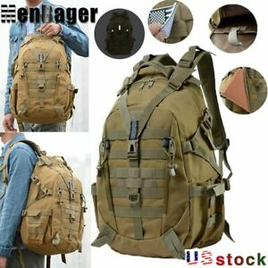 40L Camping Tactical Military Travel Backpack Climbing Hiking Outdoor Rucksack