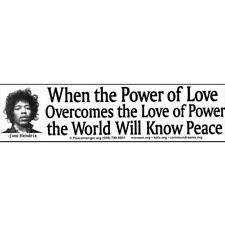 S004 When the Power of Love Overcomes the Love of Power Jimi Hendrix Sticker