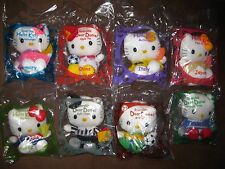 2002 Hong Kong McDonald's Hello Kitty FIVA football reversable cloth plush set 8
