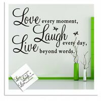 Quote Word Decal Vinyl Home Room Decor Art DIY Wall Stickers Bedroom Removable @