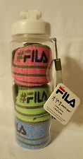 FILA Swift Dry Low Cut Athletic Socks (3 Pairs) with Water Bottle - NWT