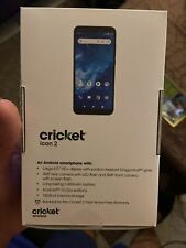 Sealed cricket icon 2 phone (16 GB) ( Single Sim) Marine Blue