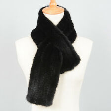 Real Mink Fur Knitted Scarves 2018 Women Winter Shawl Ladies Warm Wrap 37106