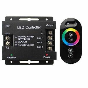RGB LED Funk Touch-Dimmer 12V 24V DC Streifen PWM Regler Funkdimmer Dimmer