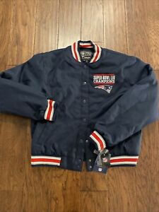 NWT New England Patriots Super Bowl Champions Snap Jacket Fanatics Youth XL
