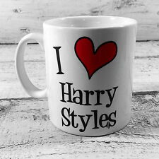 I LOVE HEART HARRY STYLES GIFT CUP MUG PRESENT ONE DIRECTION 1D FAN DIRECTIONER
