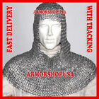 Chain Mail Coif Flat Riveted with Flat Washer Coif Viking Knight Chainmail Hood photo