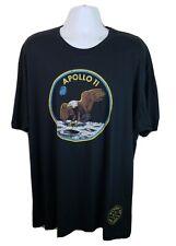 Official Ranger Up Apparel NASA Apollo 11 Moon Eagle Logo Black Tshirt 3XL