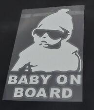 Car Window sticker Baby On Board Warning Decal Reflective Body Sign. 0262