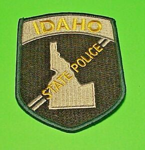 """IDAHO  ID ( GREEN BORDER ) STATE  4""""  POLICE PATCH  FREE SHIPPING!!!"""
