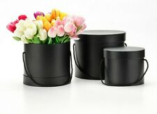 3 x CYLINDER Shape Luxury NEW STYLE  Florist Hat Boxes  GIFT BOXES