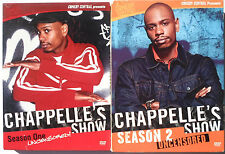 Chappelles Show Uncensored Complete Season 1& 2 DVD 5 Disc lot Comedy Central