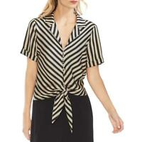 Vince Camuto Womens Striped Tie-Front Shirt Blouse Top BHFO 4403