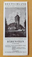 altes Reise Prospekt Bärenstein, Sächsisches Erzgebirge, um 1932