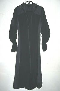 schwarzer leichter Mantel Mantelkleid Gr.36 RV Kapuze ASTU'CES France f. Muslima