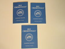 Lot of 3 Pet Credentials Passport for Pets Record Booklets Handbooks Medical New