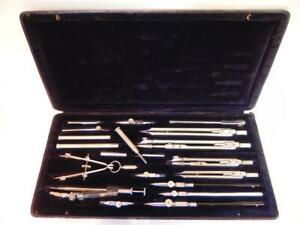 Vintage Boxed Draughtsman Set.  Early 20th C. Draughtsman Instruments (271)