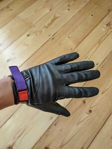 Rapha + Paul Smith Leather Town Gloves, Black, Long Fingered, Medium, Limited Ed