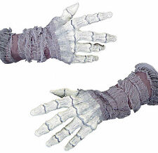 ADULT GHOSTLY BONES GAUZE HANDS GLOVES COSTUME DRESS ACCESSORY MR156029