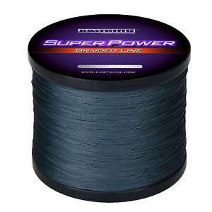 KastKing SuperPower Braided Fishing Line Superline 1000M - 50 lb - Gray