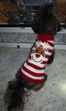 🎅 Hunde Welpen Hundepullover Strick Pulli Hundeshirt Weihnachten Elch Gr. M NEU