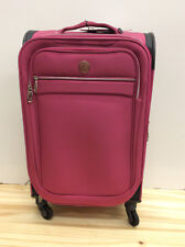 "Revo City Lights 21"" Carry On Expandable Spinner Suitcase, Fuchsia"
