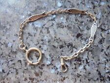 belle chaine de montre a gousset metal argenté