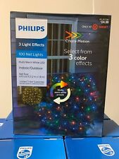PHILIPS 100 Ct Create Motion LED 3 Color Effects Mini Net Lights Multi/White