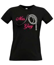 FUN T-SHIRT GIRL * Mrs Grey * for 50 FIFTY SHADES OF GREY Fans * SATIRE PARODY