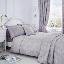 Jasmine Floral Cotton Rich Duvet Cover Set, Curtains, Bedspread - Cream, Purple
