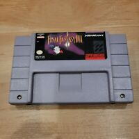 Final Fantasy III 3 Super Nintendo Snes Battery Saves Tested Authentic