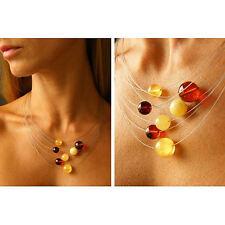Wunderschönes Collier, Amber, necklace, KUGELN, Silber 925, Amber NEU -UNIKAT-