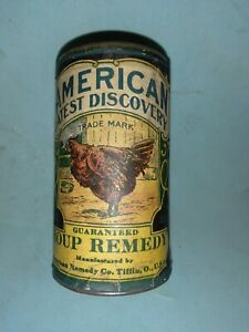 1 can canister Vintage American remedy roup chicken fowl medicine veterinarian