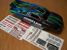 Traxxas 37076-4 VXL Brushless Rustler Green Blue Black Painted Body &Decals XL-5