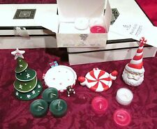 PARTYLITE SANTA & CHRISTMAS TREE SNUFFERS-SWEETS & TREATS~BABY IT'S COLD SETS