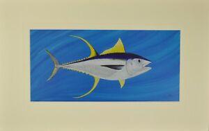 "Tuna Matted Print 12"" x 19"" , Australian Marine Animals"