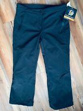 AFRC Tech Softshell W/B Ski Snow Pants NWT - Womens 16 PETITE Black Style-7624P