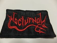 Embroidered thrash metal Nocturnal patch