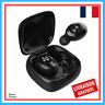 Ecouteurs Bluetooth Sans Fil XG12 Batterie Intégrée 350 mAh Samsung Apple Noir