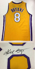 Kobe Bryant Signed Yellow Lakers #8 Jersey Autograph Full Signature PSA DNA coa