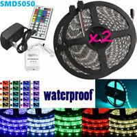 Led Strip Lighting 2*5M 32.8 Ft 5050 RGB 150 LEDs Flexible Color Changing Light