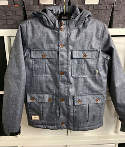 Vans Hooded Denim Blue Insulated Hiking/Outdoor/Snowboarding Jacket Size XL