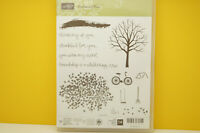 RETIRED Stampin Up Sheltering Tree set Thinking of You Thankful Friendship Fall